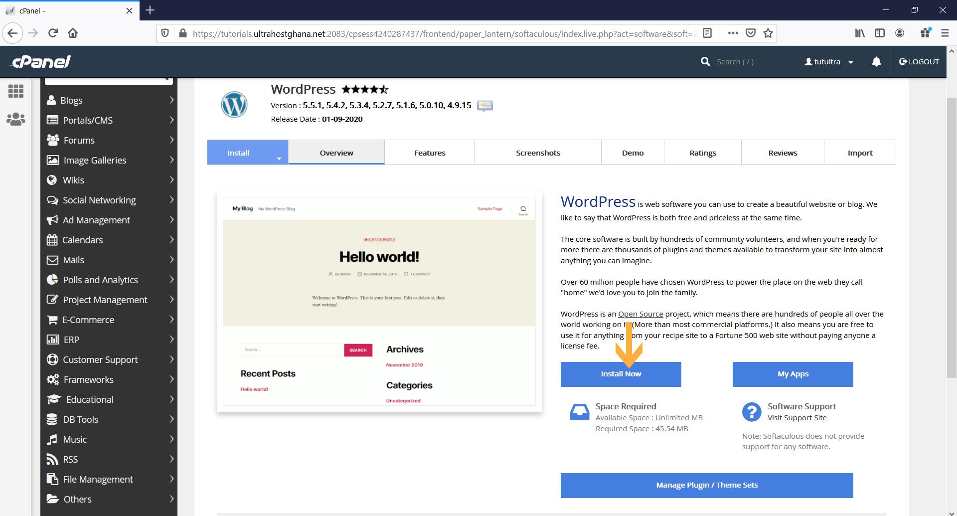 softaculous_install_app